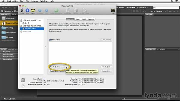 Repairing your drive in Mac OS X: Photoshop Insider Training: Optimizing Photoshop's Performance