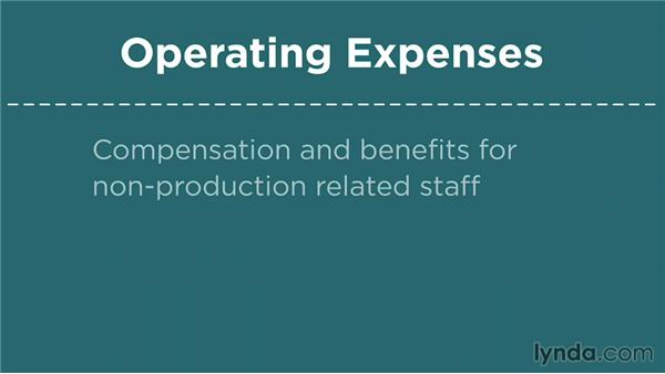 Operating expenses: Financial Literacy: Reading Financial Reports