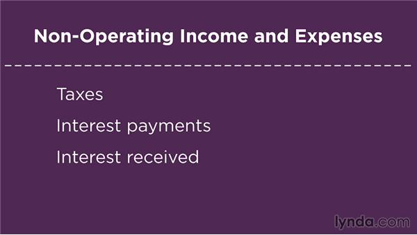 Non-operating income and expenses: Financial Literacy: Reading Financial Reports