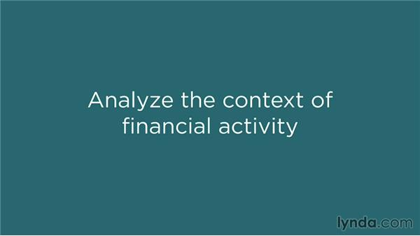 Analysis in light of context: Financial Literacy: Reading Financial Reports
