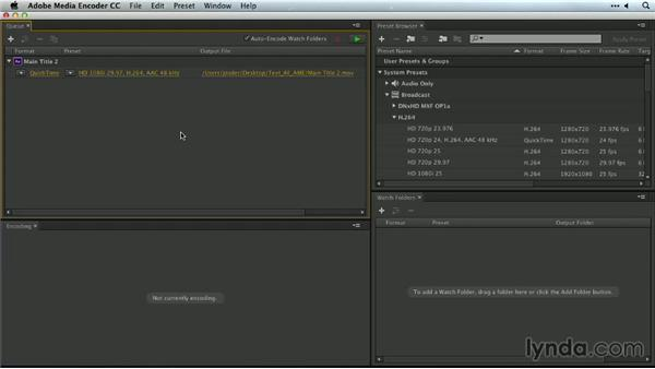 Exporting with Media Encoder from After Effects: Premiere Pro Guru: Outputs and Media Encoder
