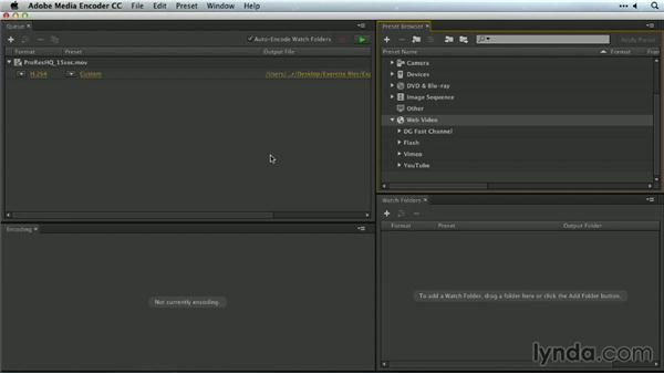 Creating Flash video files for the web: Premiere Pro Guru: Outputs and Media Encoder