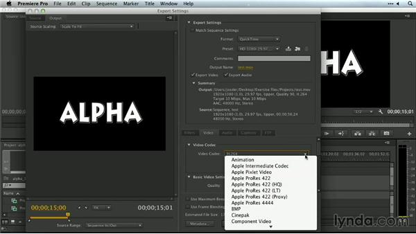 Working with alpha channels on export: Premiere Pro Guru: Outputs and Media Encoder