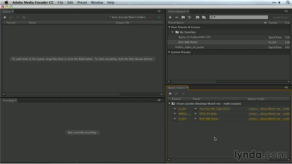 Watch folders in Adobe Media Encoder: Premiere Pro Guru: Outputs and Media Encoder