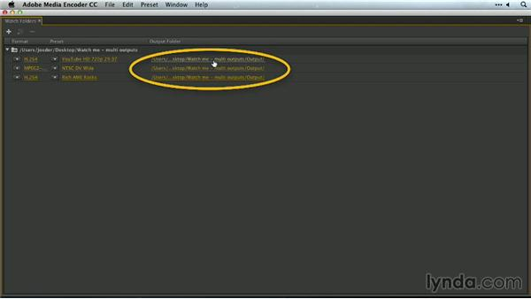 Custom watch folder outputs: Premiere Pro Guru: Outputs and Media Encoder