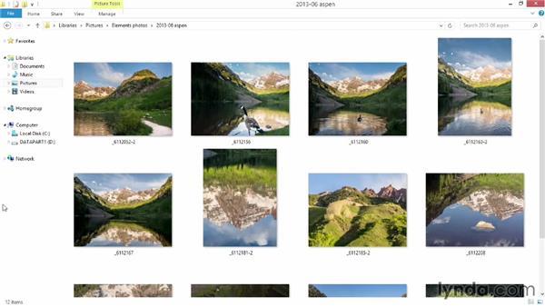 Preparing to import: Photoshop Elements 12 Essential Training