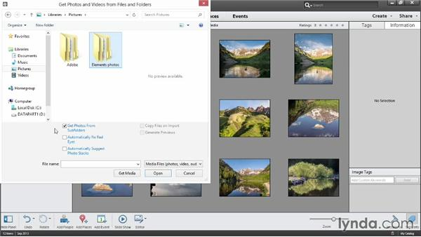Importing photos from a hard drive: Photoshop Elements 12 Essential Training