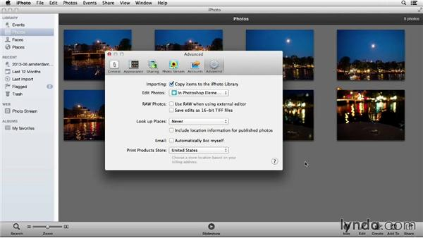 Importing photos from iPhoto (Mac only): Photoshop Elements 12 Essential Training