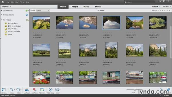 Viewing imported photos: Photoshop Elements 12 Essential Training