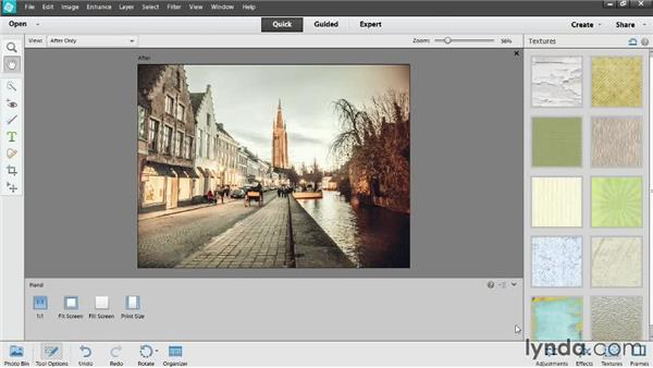 Adding effects, borders, and textures in Quick Edit: Photoshop Elements 12 Essential Training