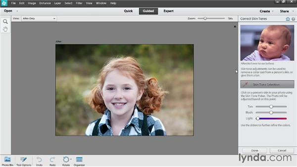 Touching up photos in Guided Edit: Photoshop Elements 12 Essential Training