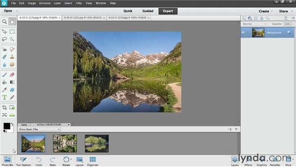 Overview of the Expert Edit workspace: Photoshop Elements 12 Essential Training