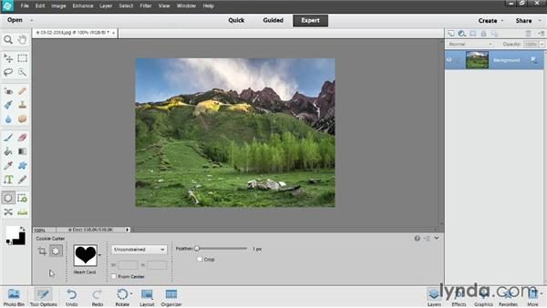 Working with the editing tools: Photoshop Elements 12 Essential Training