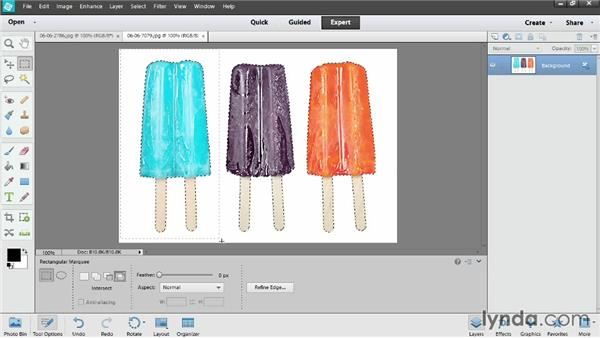 Modifying a selection: Photoshop Elements 12 Essential Training