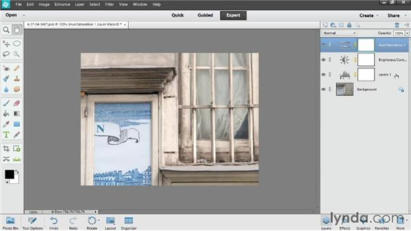 Editing adjustment layers: Photoshop Elements 12 Essential Training