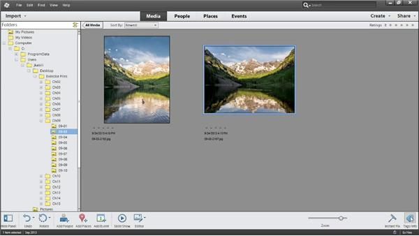 Viewing information about your photos: Photoshop Elements 12 Essential Training