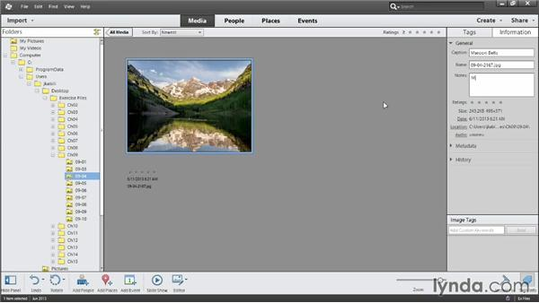 Adding captions and notes: Photoshop Elements 12 Essential Training