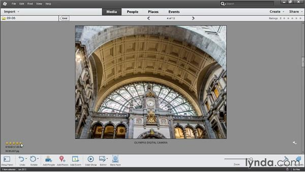 Rating photos with star rankings: Photoshop Elements 12 Essential Training