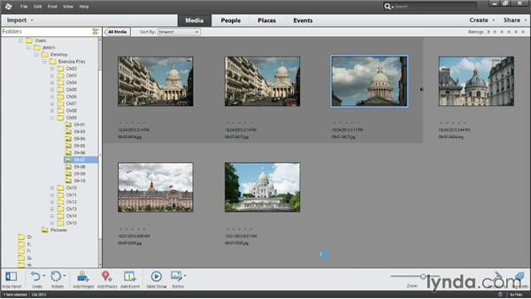 Stacking related photos: Photoshop Elements 12 Essential Training