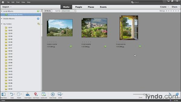 Creating albums: Photoshop Elements 12 Essential Training