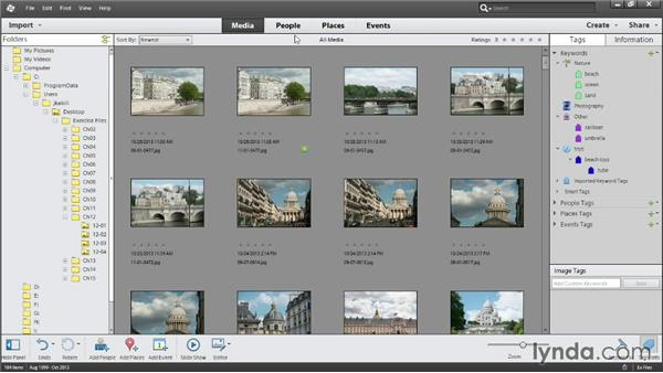 Finding photos by keyword: Photoshop Elements 12 Essential Training