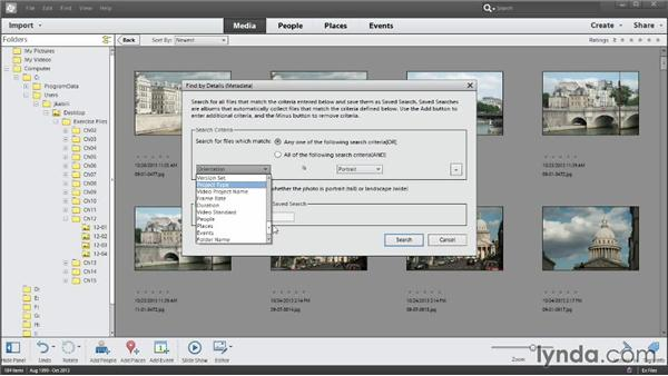 Searching by metadata: Photoshop Elements 12 Essential Training