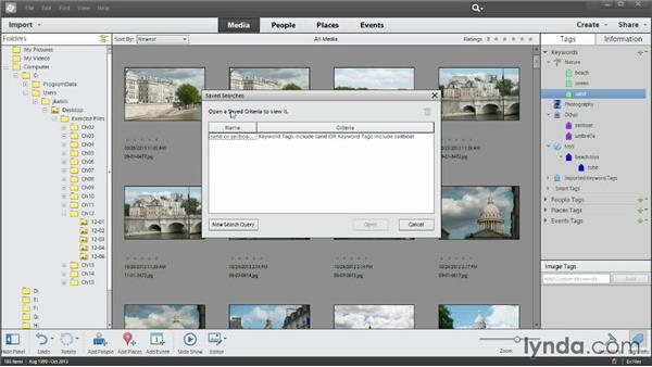 Using Saved Searches: Photoshop Elements 12 Essential Training
