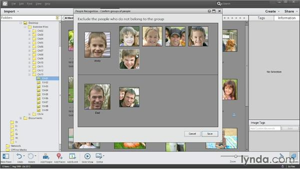 Automatically identifying people in your photos: Photoshop Elements 12 Essential Training