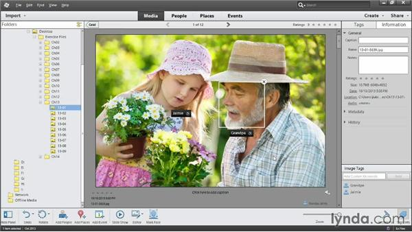 Manually identifying people in your photos: Photoshop Elements 12 Essential Training