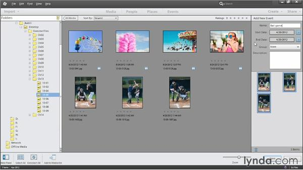 Organizing by events: Photoshop Elements 12 Essential Training
