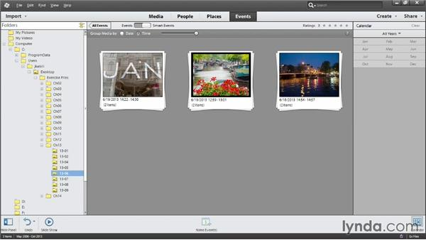 Organizing by Smart Events: Photoshop Elements 12 Essential Training