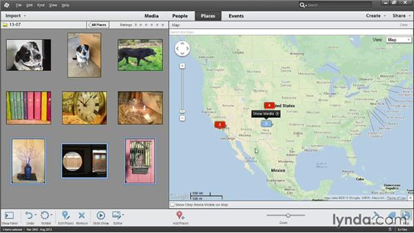 Viewing photos on a map: Photoshop Elements 12 Essential Training