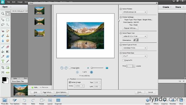 Printing in Photoshop Elements: Photoshop Elements 12 Essential Training