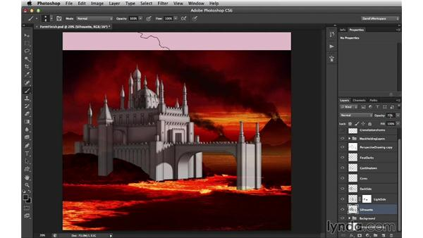 Prepping the form study for texturing: Digital Matte Painting Essentials 4: Texturing