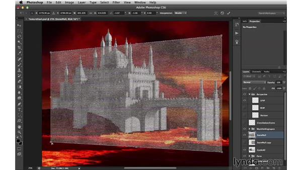 Adding the dark side's base texture: Digital Matte Painting Essentials 4: Texturing