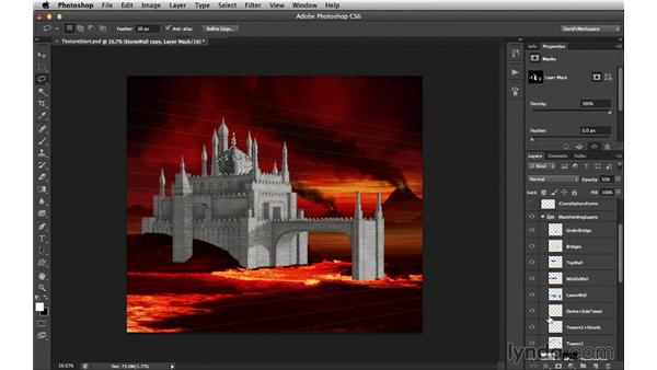 Adding the light side's base texture: Digital Matte Painting Essentials 4: Texturing
