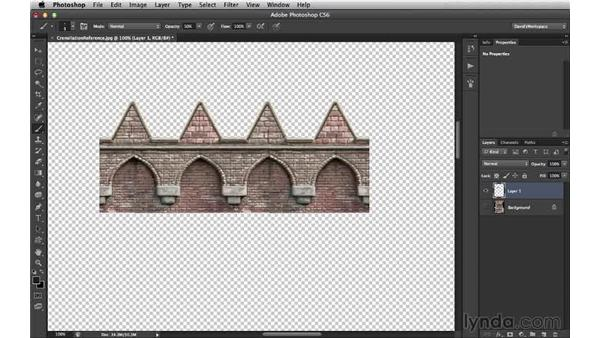 Creating a line of crenellations: Digital Matte Painting Essentials 4: Texturing