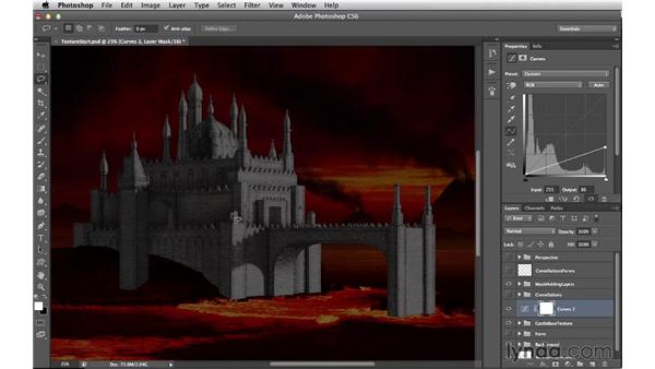 Toning the base castle: Digital Matte Painting Essentials 4: Texturing