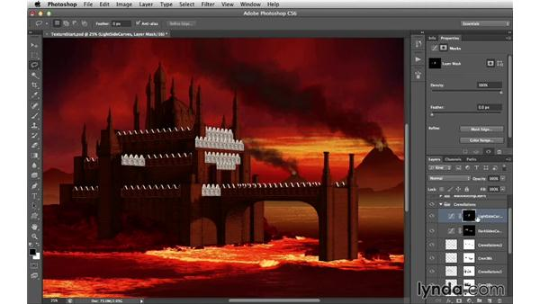 Toning the crenellations: Digital Matte Painting Essentials 4: Texturing