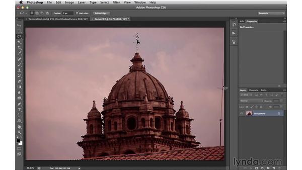 Adding photographic elements: Digital Matte Painting Essentials 4: Texturing