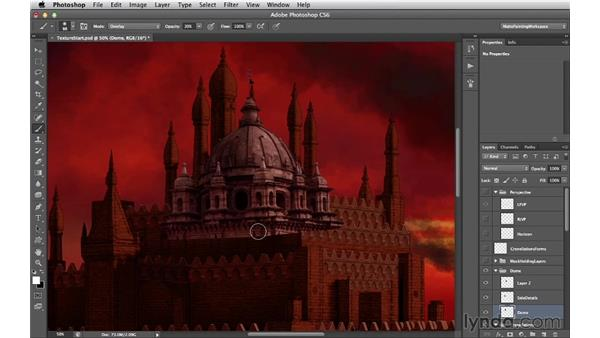 Relighting the dome: Digital Matte Painting Essentials 4: Texturing