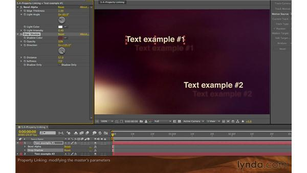 Property linking: After Effects: Creative Cloud Updates