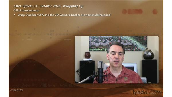 Wrapping up: After Effects: Creative Cloud Updates