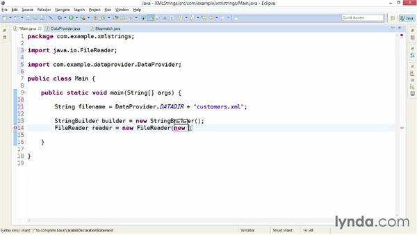 Reading XML as a string: XML Integration with Java