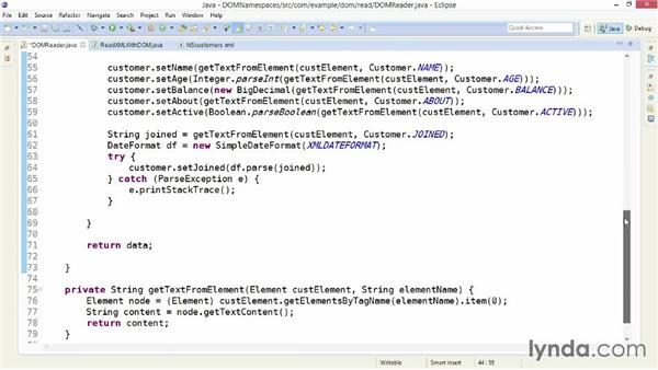 Handling XML namespaces and prefixes with DOM: XML Integration with Java