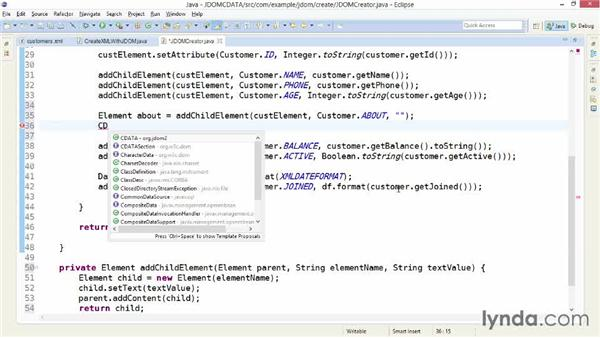 Wrapping text in CDATA sections with JDOM: XML Integration with Java