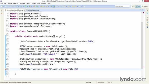 Outputting an XML file with JDOM: XML Integration with Java