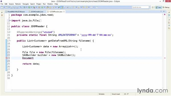 Parsing an XML file with JDOM: XML Integration with Java
