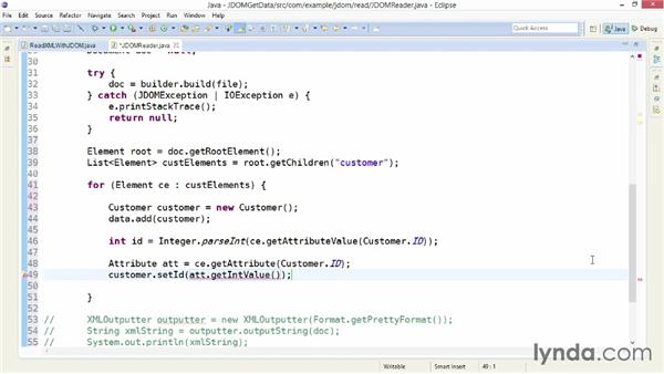Getting data from XML with JDOM: XML Integration with Java