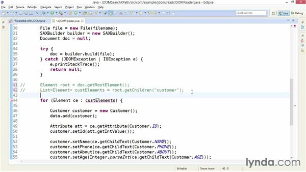 Searching a JDOM document with XPath: XML Integration with Java